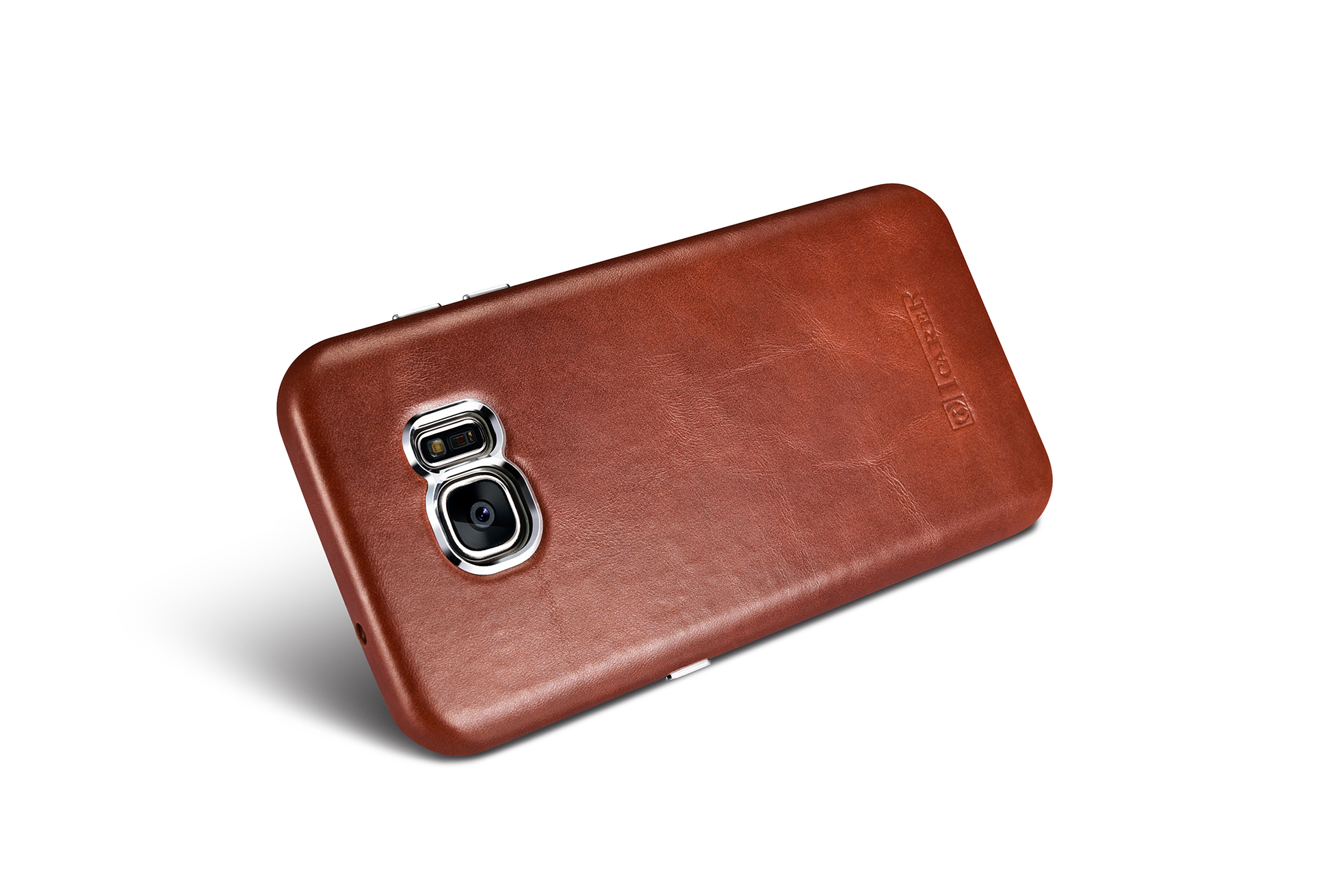 quality design aee8e b93d1 Samsung Galaxy S7 Edge Vintage Back Cover Series Genuine Leather Case Brown